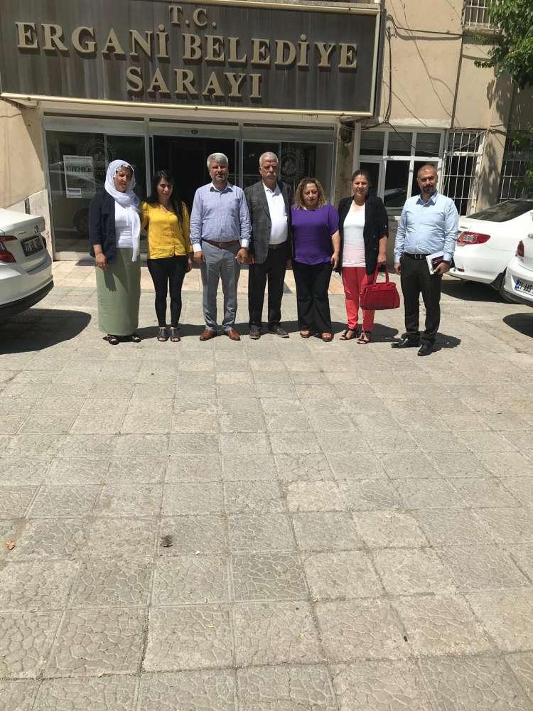 Çınar Belediyesi Başkanı Ergani Belediyesi'ni Ziyaret Etti