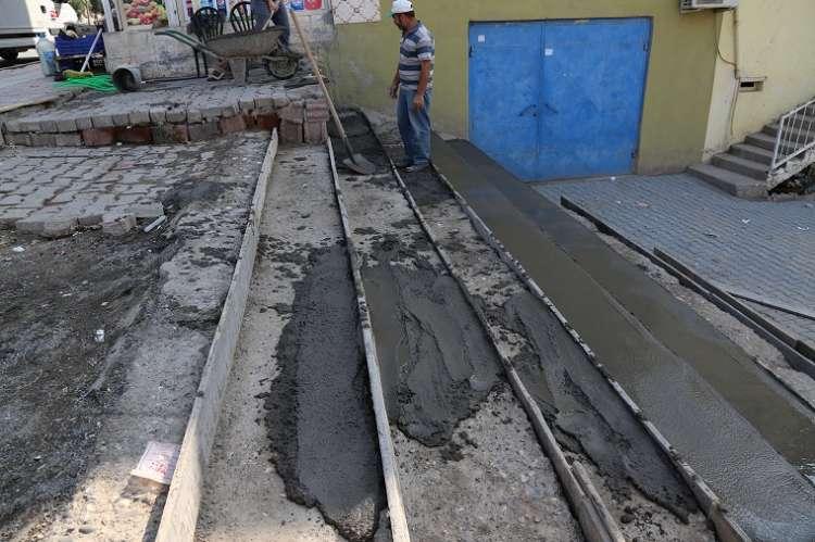 Fatih Mahallesi'ndeki Merdivenler Yenileniyor