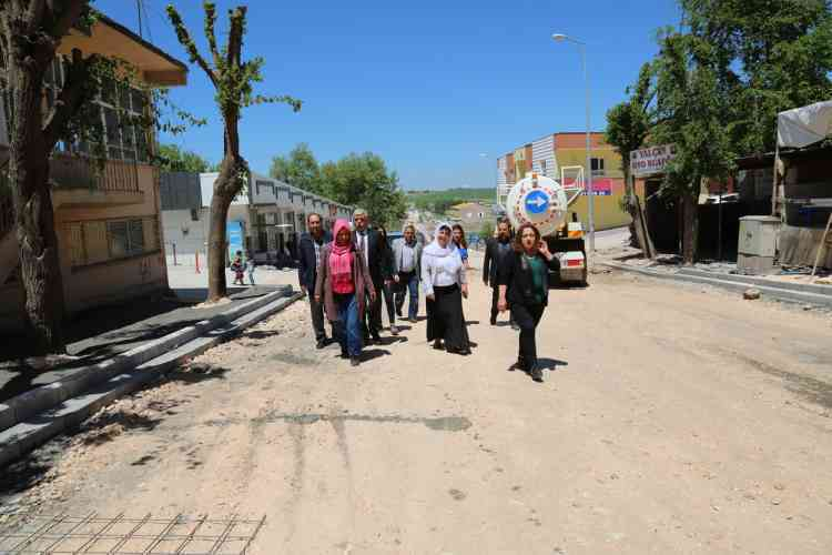 Çınar Belediye Başkanı Parke Taşı Çalışmalarını Denetledi