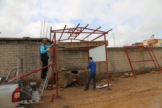 Çınar Belediyesi Ekmek Tandırlarının Çatısını Yeniliyor